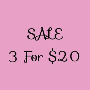 """Bundle any 3 items with """"3 for $20"""" in title for special pricing."""